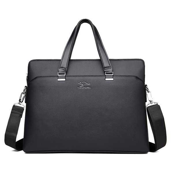 Brand Luxury High Quality Leather Men Business Tote Bags Fashion Handbags Male Laptop Briefcase Travel Bags Men's Messenger Bag