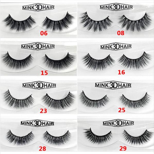 Real Siberian 3D Mink Individual Eyelashes 12 Style False Eyelashes 3D Mink Lashes Thick Hand-Made Mink Natural Eyelashes Full Strip Lashes