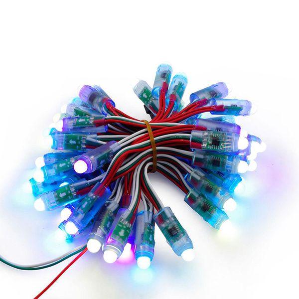 Digital LED Pixel Light 12mm WS2811 IC Full Color Pixel Modulo LED Luce DC 5V ingresso IP68 colore RGB impermeabile