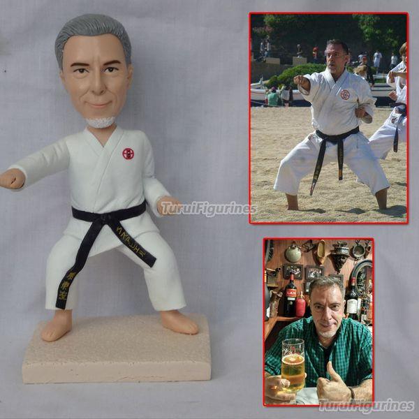 muñeca de arcilla polimérica figurita karate atleta Regalo de aniversario de boda amante personalizado muñecas regalos para novio regalos para él cumpleaños