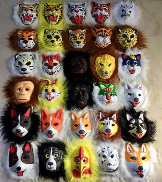 Kids Plush animal masks lion leopard children EVA mask halloween costumes Halloween mask toy best gift for child halloween Christmas 2018