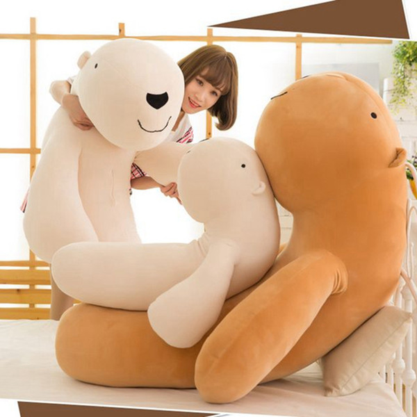 Dorimytrader Kawaii Soft Animal Capybara Plush Toy Big Stuffed Cartoon Hug Bears Pillow Cushion Bear Doll for Children Gift DY60239