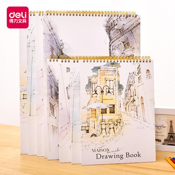 1pcs Jinbao papeterie Deli rue esquisser 40 pages blanches esquissées papier étudiants peints à la main écrire
