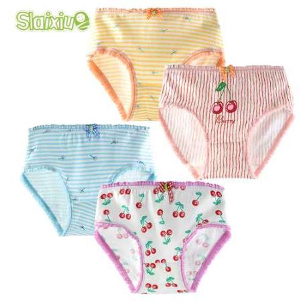 4 Piece/lot Girl Briefs for Teenage Children Clothing Cartoon Kids Underwear Soft Cotton Female Children Baby Panties