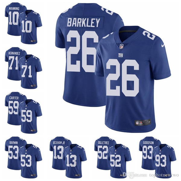 New York Limited Home football Jersey Giants Royal Blue Vapor Untouchable  10 Eli Manning 13 Odell 91c388409