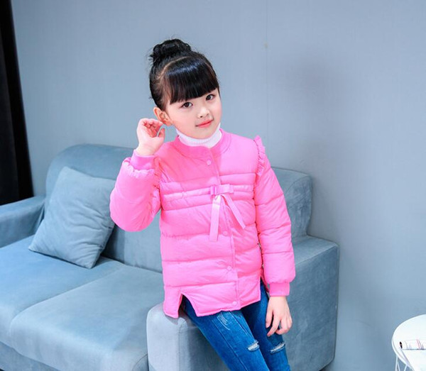 Factory direct autumn and winter new children's down cotton padded cotton shirt boys and girls cotton new wholesale