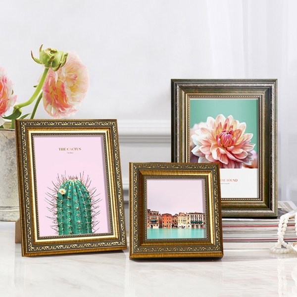 2018 New Bronze Vintage Style Photo Frame For Table And Wall 1 Piece Quality Picture Frame Bedroom Living Room Frame Wall Free Shipping
