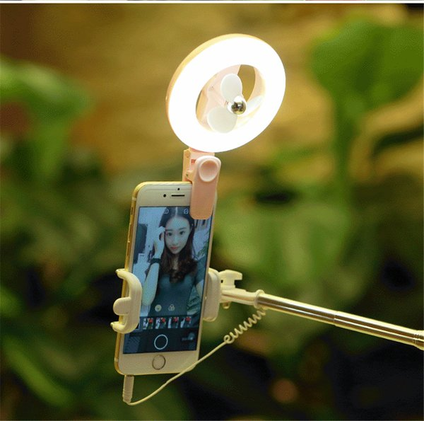 Portable For Phone 7 Colors Flash Fill Light With Fan Beads Clip-on Mobile Universal Selfie Ring Phone Camera Lens Photography