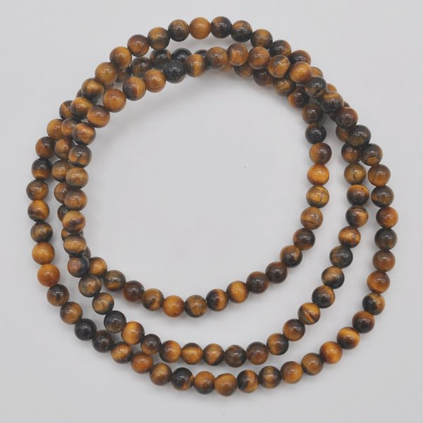 4MM Tigereye Stone Beads Bracelet Bangle Necklace Stretch 22 Inch Jewelry G742