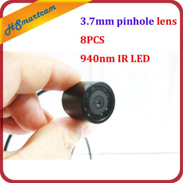 Waterproof 940nm IR night vision mini 3.7mm pinhole lens micro CCTV color camera For HD DVR Video System