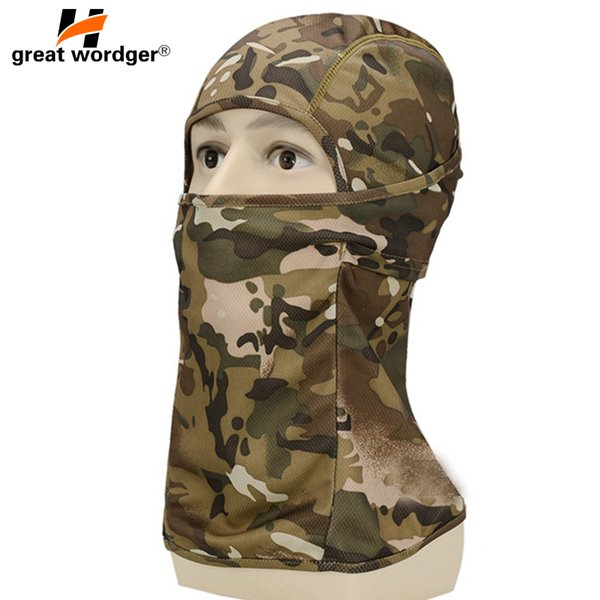 Cycling Full Face Masks Balaclava Tactical Headgear Sports Bike Bicycle Riding Hat Head Scarf Camouflage Face Mask