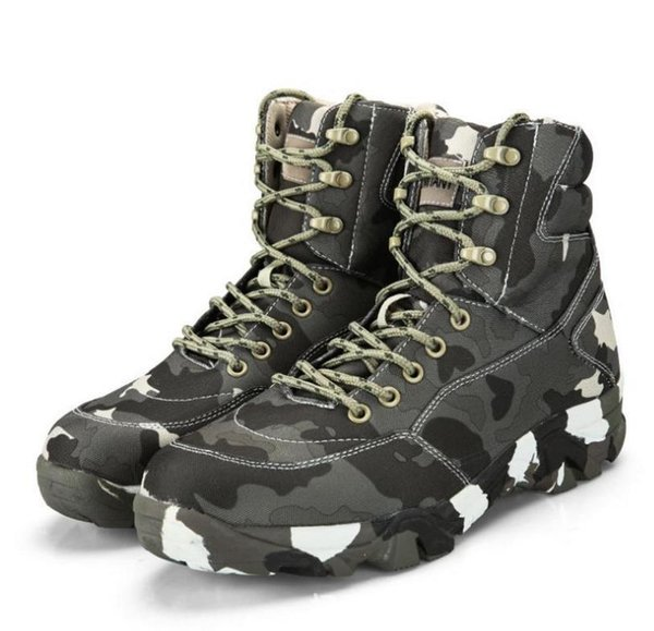 Men Hiking Shoes Leather Tactical Army Boots Outdoor Outventure Trekking Sneakers Men Ankle Military Comfortable Shoes