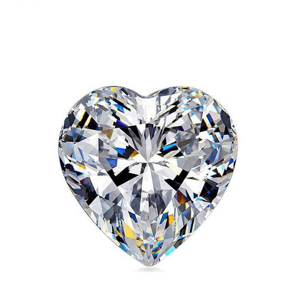 0.1Ct~4.0Ct(3MM~10MM)Heart Cut D/F Color VVS Clarity Synthetic Diamond Moissanite Stone 3EX Cut Loose Diamond With A Certificate For Setting