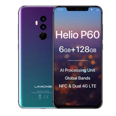 "UMIDIGI Z2 Pro Ceramic Edition 6.2""Full screen smartphone Android 8.1 Helio P60 6GB+128GB 16MP 4G LTE NFC Wireless Mobile phone"