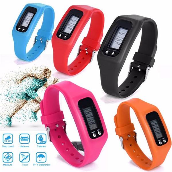 Digital LCD Pedometer Run Step Walking Distance Calorie Counter Watch Bracelet Erkek Kol Saati Sport Watch