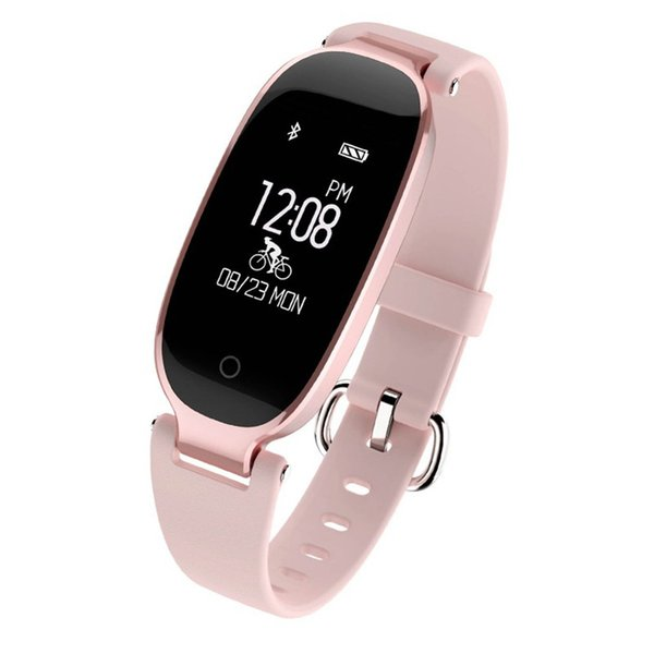 S3 Bluetooth Smart Band Bracelet IP67 Waterproof Girl Women Heart Rate Monitor Wrist Watch Smartband Lady Female Fitness Tracker