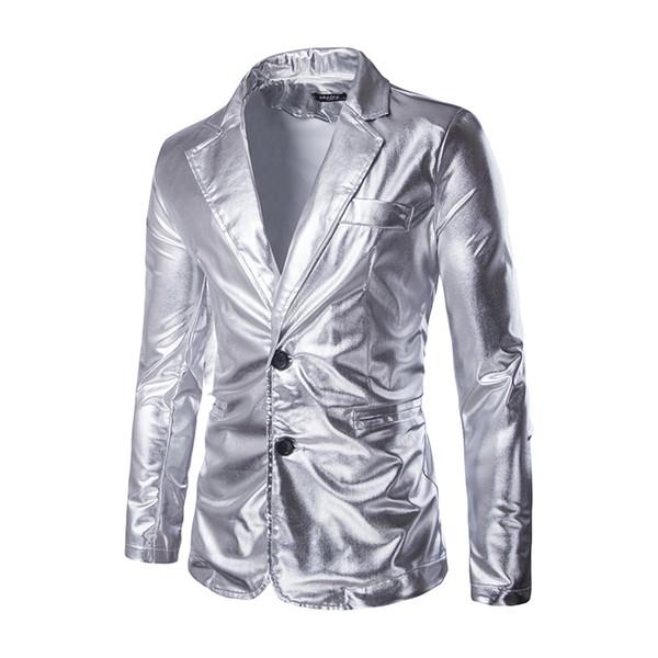New Black Silver Man Suit Blazer Golden Sequin Masculine Blazer Double Button Mens Dress Coat Leisure Corduroy Blazer Men Large Size M-3XL