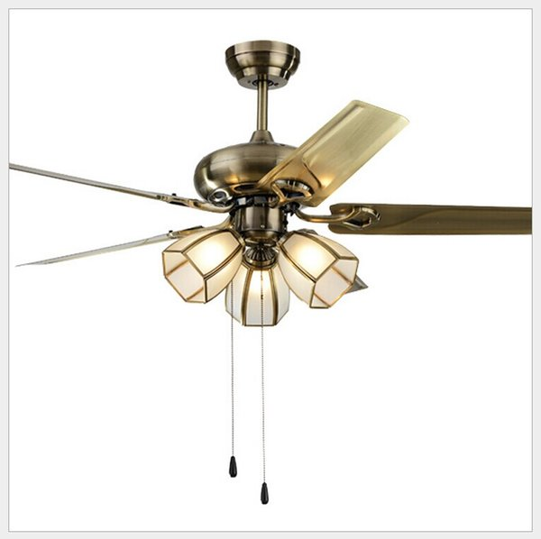 LED Ceiling Fan With Lights Remote Control 220-240Volt Fan LED Light Bulbs Bedroom Lamp Free Shipping