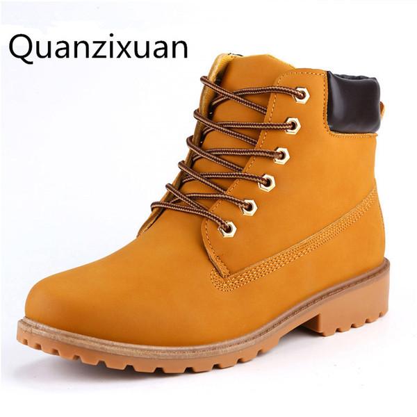 Quanzixuan2018 Nouvel Homme Chaussures En Daim En Cuir Hommes Bottes Automne Et D'hiver Cheville Botte Hommes Neige Botte Chaussures De Travail Plus La Taille 39-46