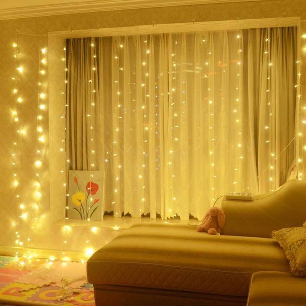8M x 3M LED Twinkle Lighting 800 LED xmas String Fairy Wedding Curtain background Outdoor Party Christmas Lights 110V 220V