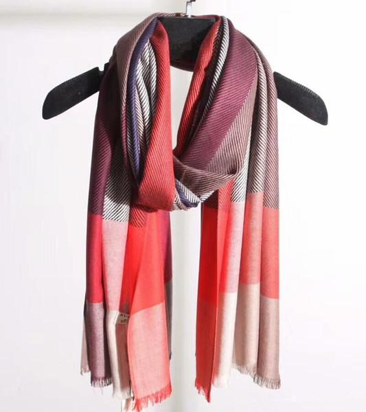 New Style Plaid Stripes Scraf Hot Designer Fashion Wool Cotton for Men Women High Quality England Design Shawl Warp Brand Pashmina Scarves