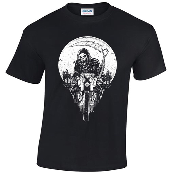 Grim Racer T-Shirt mens S-5XL Biker metal rock goth reaper motorcycle death