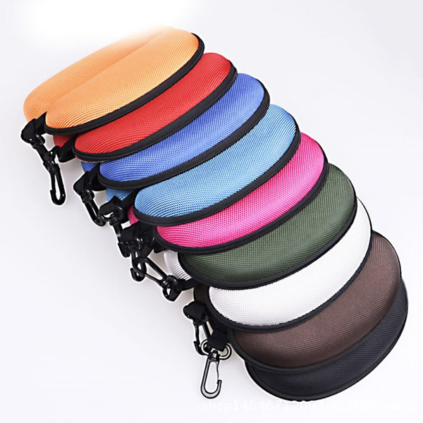 Sunglasses case Glasses Carry Bag Hard sunglass Zipper Box Travel Pack Pouch Case New Suspended 13 colors