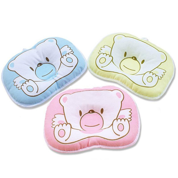 Hot selling Infant bedding print bear oval shape 100% cotton Baby Bear pillow high quality