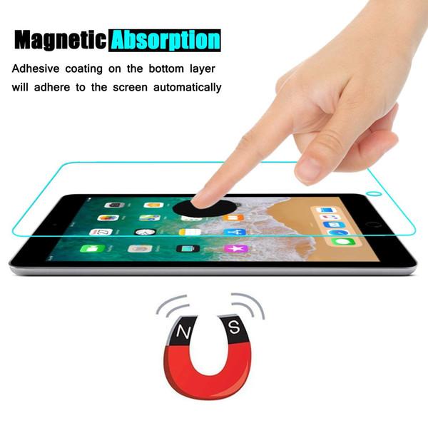 Para a apple ipad air / air2 protetor de tela de vidro temperado 9 h 2.5d alta qualidade de definição anti scratch film para apple ipad series