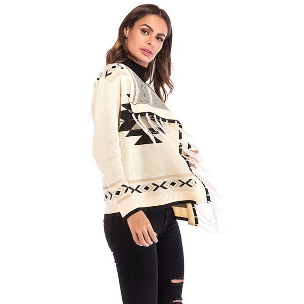 Compre 2018 New Autumn Knit Cardigan Sweater Women Shawl 2018 ...