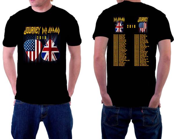 Def leppard Viagem Journey 2018 Design T-Shirt Tamanho-S Para 5XL 2018 Funny Tee Camisas Bonito T Homem 100% Algodão Cool Men'S Lastest
