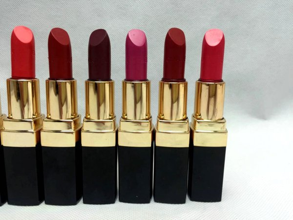 1pcs/lot Brand new Cosmetics makeup Rouge lipstick lip stick 12 color 3.5g Free shipping