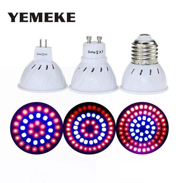 E27 GU10 MR16 Grow Light With180 Degrees Flexible Lamp SMD2835 220V Full Spectrum Red + Blue Para Desktop 36 54 72LEDS
