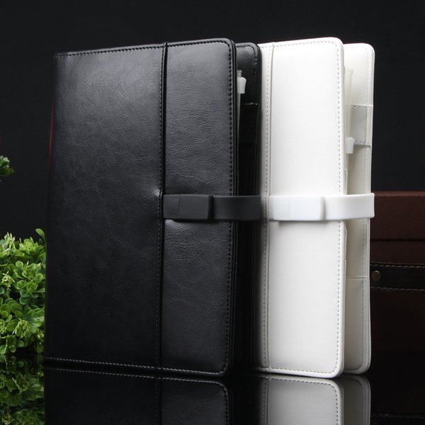 Brand Business Leather diary Spiral notpaper A5 with 4G U disk 80 sheets Agenda planner organizer Office Supplies Gift