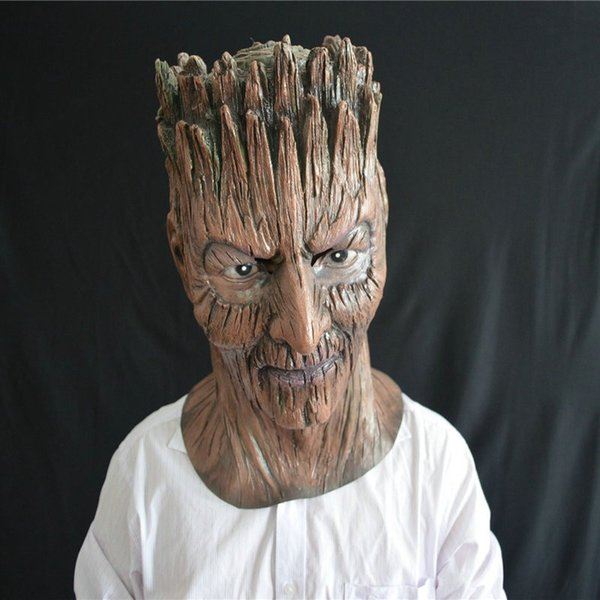 Funny Latex Tree demon Party Mask masquerade Halloween Silicone face mask Festival Party Props Cosplay Costume Cosplay Mask