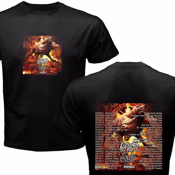 b48363bd Personalized Shirts Summer Men O-Neck Short-Sleeve Slayer Metal Band Summer  Tour Dates