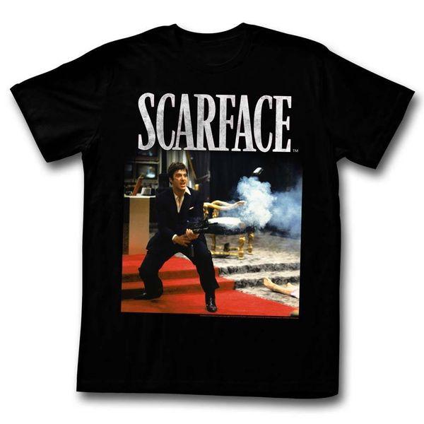 SCARFACE HELLO FREUND SCHWARZ Herren Herren Kurzarm T-Shirt