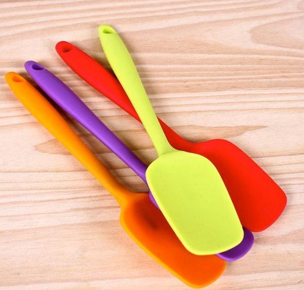 Eco Friendly Cake Scraper For Heat Resisting Home Kitchen Practical Baking Tools Non Stick Silicone Spatula Non Toxic SN2030