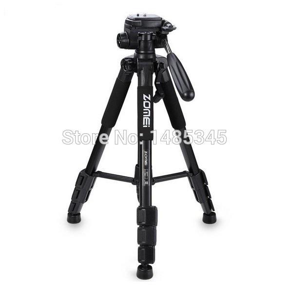 2017 Hot Sell New Zomei Q111 Professional Tripod Portable Pro Aluminium Tripod Camera Stand with 3-way Pan Head for Digital Dslr