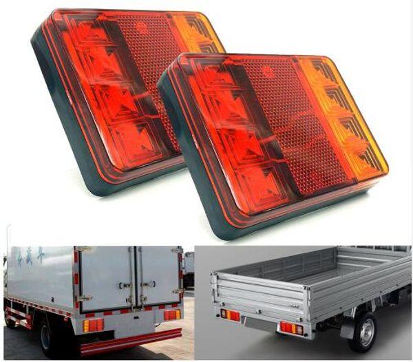 Car Truck LED Rear Tail Light Warning Lights Rear Lamps Waterproof Tailight Parts for Trailer Caravans DC 12V