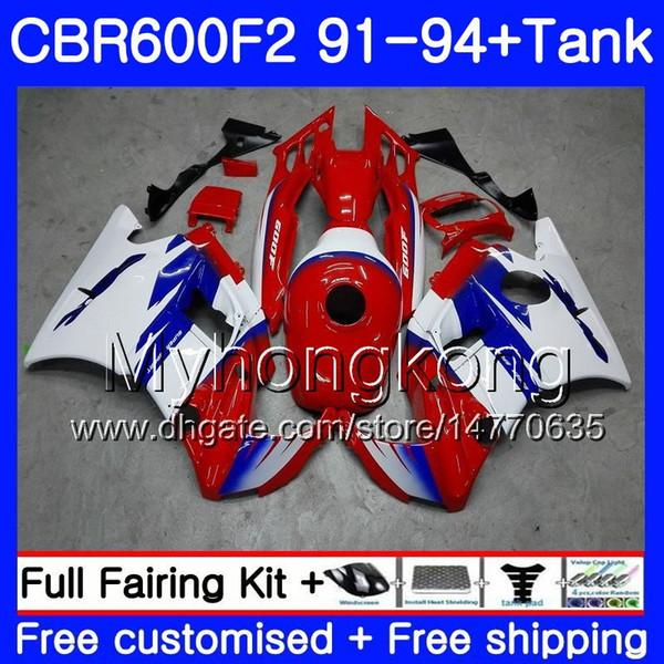Body For HONDA CBR 600F2 FS CBR600RR CBR600 F2 91 92 93 94 1MY.2 CBR600FS CBR 600 F2 CBR600F2 1991 1992 1993 1994 Fairing Hot red kit