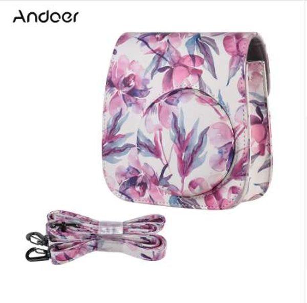 Andoer Camera Bag Case Cover PU for Fujifilm Instax Mini 9 Mini 8 + Mini8 Mini 8s Instant Film Photo Camera PU Cover