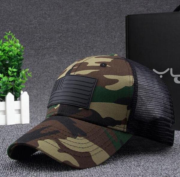 DHL Camo Mesh Baseball Cap Men Camouflage Bone Masculino Summer Hat Men Army Cap Trucker Snapback Hip Hop Dad Hat