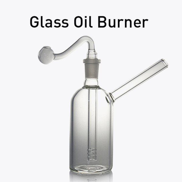 Quality Pyrex Oil Burner Pipe Clear Glass Oil Burner clear Great Tube Glass Pipe Oil Nail Bong Water Pipes