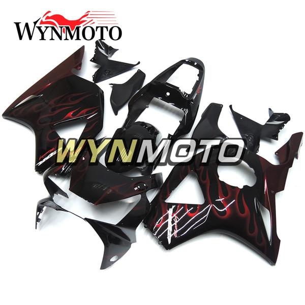Carenature per fiammate rosse nere per Honda CBR900RR 954 2002 2003 CBR900 RR 02 03 Pannelli di plastica per carrozzeria Carenature per carrozzeria