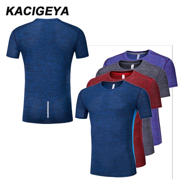 Männer Gym Shirt Lauf Quick Dry bequeme Kompressionsstrumpfhose Kurzarm Outdoor Trainning T-Shirt 2018 Sporting Hot Top
