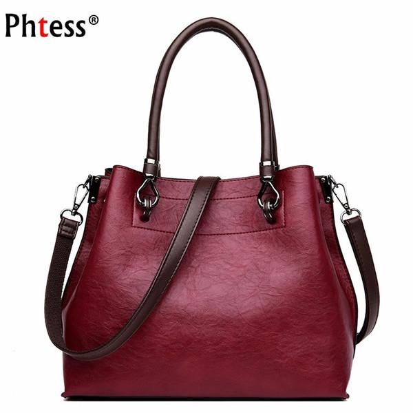 Weibliche Leder Umhängetasche Frauen Berühmte Marke Taschen 2018 Vintage Handtaschen Retro Reise Lässig Einkaufstasche Für Mädchen Sac A Main New