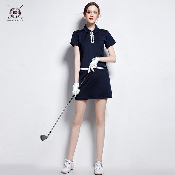 best selling 2017 new arrival brand women golf clothes women's one-piece shirt+skirts lady summer coolpass short skirt dry fit cool 2 colors