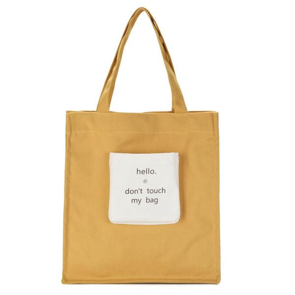 2018 Wholesale Ladies Reusable Women Canvas Shopping Bags Shoulder Cotton  Folding Tote Fabric Convenience ECO Grocery Handbag 0395b4194b7b6