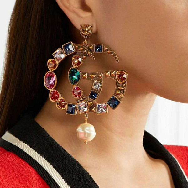 Women Earrings Gold Plated Colorful CZ Earrings for Girls Women for Party Wedding Nice Gift for Friends